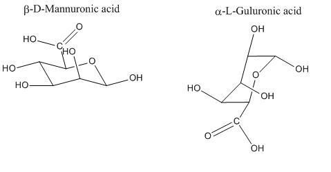 Alginate monomers