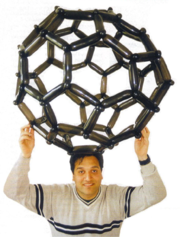 Carbon buckyball made with balloons. More at BalloonMolecules.com.